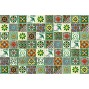 100 Mexican Tiles 4x4 Handpainted Hundred Pieces Green Designs Backsplash