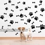 SITAKE 76 Pcs Dog Decor Stickers 40 Pcs Dog Paw Print Stickers and 36 Pcs Dog Bones Stickers Dog Decorations Wall Floor Windows Decal Stickers for Kids Room Teen Girl's Room and Boy's Room