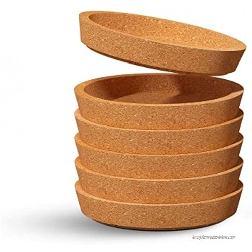 ZESPROKA Set of 6 Cork Coasters for Drinks  4 Inches
