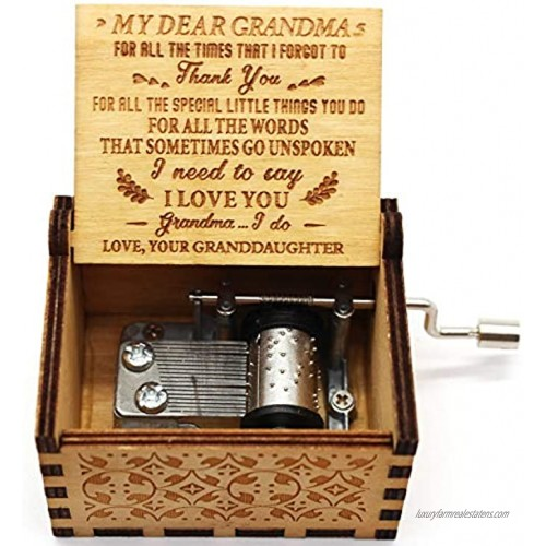 Lastsummer You are My Sunshine Music Box – Gifts for Holiday Christmas Birthday from Granddaughter to Grandma– 1 Setts