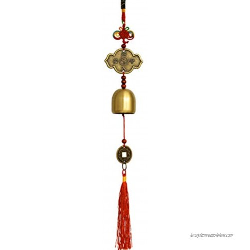 Chinese Feng Shui Money Coins with Bell for Wealth and Success