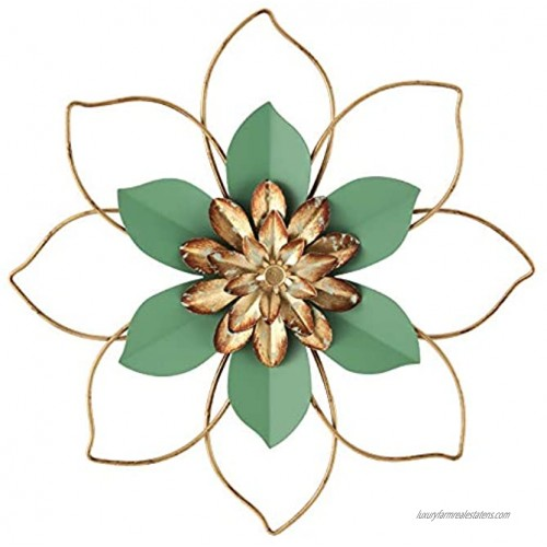 H HOMEBROAD. Metal Flower Wall Decor Hanging Decorations,12 Inch Outdoor Wall Sculptures for Home Bedroom Bathroom Kitchen Garden Mint Green