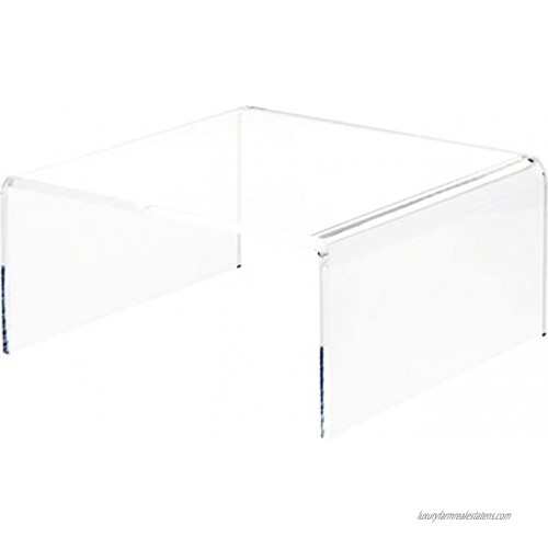 Plymor Clear Acrylic Short Square Display Riser 6 H x 12 W x 12 D 3 8 Thick