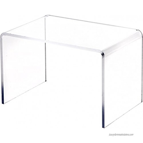 Plymor Clear Acrylic Small Rectangular Display Riser 5 inch Height x 7.5 inch Width x 5 inch Depth 3 16 inch Thick