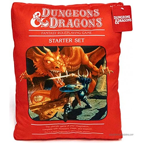 Jay Franco Dungeons & Dragons Red Box Decorative Pillow Super Soft Throw Plush Pillow Measures 17 Inches Official Dungeons & Dragons