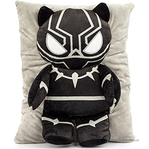 Jay Franco Marvel Black Panther 3D Snuggle Pillow Super Soft – Measures 15 Inches Official Marvel Product
