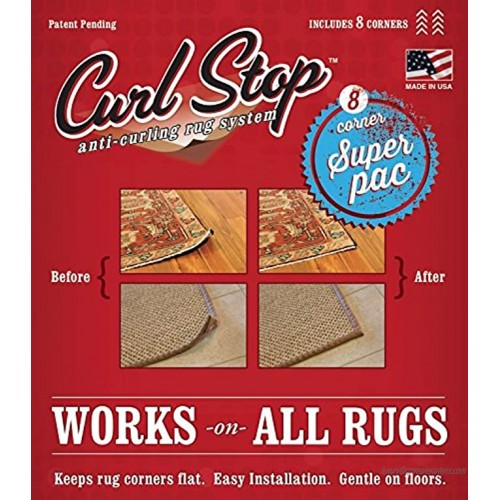 Curl Stop Anti-Curling Rug System Super Pac of 8 Corners