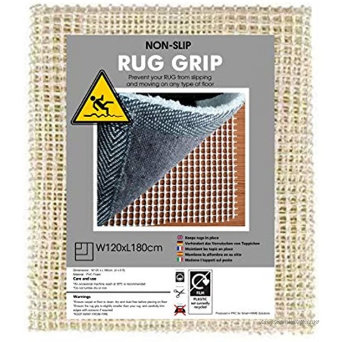 SmartHOMEsolutionS Rug Gripper Pad for Hard Floors Non-Slip Pads Available in Many Sizes Provides Protection and Cushion for Area Rugs and Floors 4' X 6'