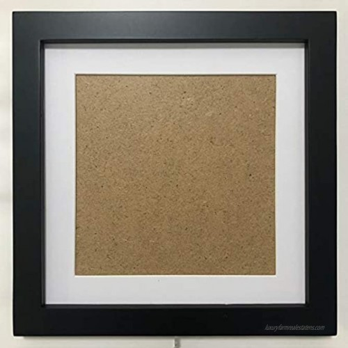 7x7 Picture Frames with 4x4 Opening Mat. 7x7 Black Square Photo Frame. Solid Wood Plastic Panel  The Tabletop or The Wall.
