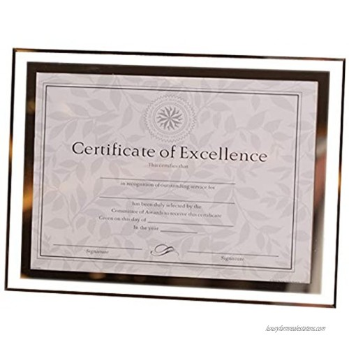 GracesDawn Crystal Glass Photo Diploma Document Frame Frame Picture Size 8 1 2 x 11'' 217mm279mm