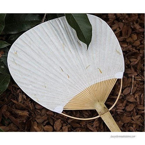 Davi Atelier Japanese Style Fans Hand Fan for Wedding Party and Personal Decoration,White Paper with Bamboo Handle