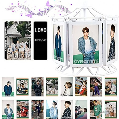 Kpop BTS Merchandise BTS Mechanical Music Photo Frame with 30Pcs Set Photocards for Army Gifts
