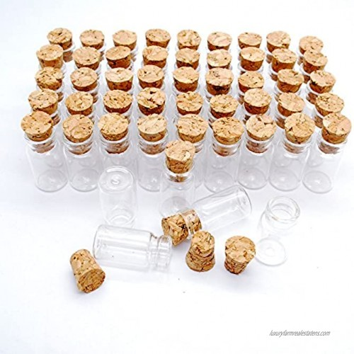 Dow 100pcs 1ml Vials Clear Glass Bottles with Corks Miniature Glass Bottle with Cork Empty Sample Jars Small 22x11mmHeightxDia Cute Bottles Perfect for Crafts